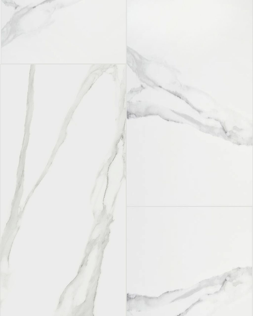 An overral pattern of our Duomo Blanco 24 x 48 Porcelain Tile